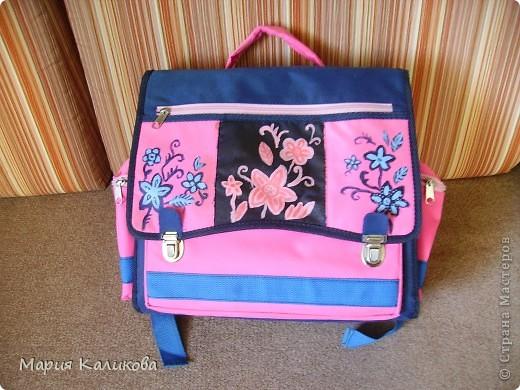 Я обновила свой портфель, расписала акриловыми красками. фото 1