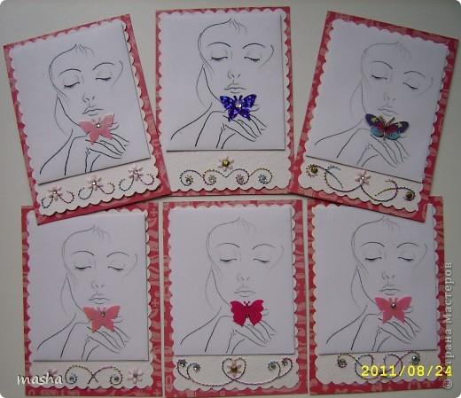Приглашаю мастериц, кто выразил симпатию к моим карточкам, может эта серия Вам понравится. фото 1