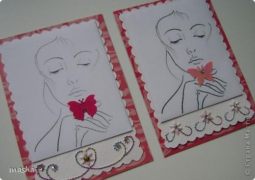 Приглашаю мастериц, кто выразил симпатию к моим карточкам, может эта серия Вам понравится. фото 3