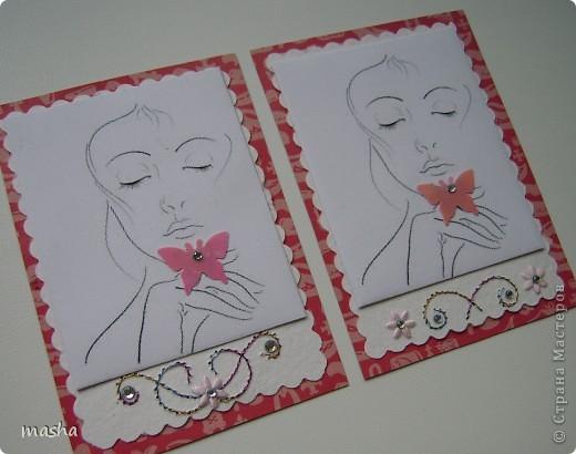 Приглашаю мастериц, кто выразил симпатию к моим карточкам, может эта серия Вам понравится. фото 2
