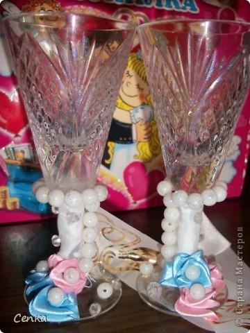Наши скромные свадебные бокальчики фото 2