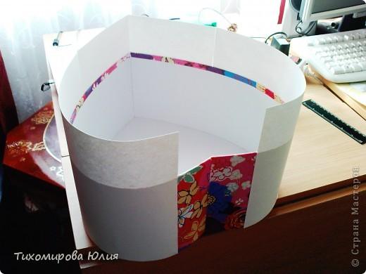 Это сердце-коробку для денежных подарков на свадьбу я сделала, взяв идею с сайта Насти Рай http://www.nastyarai.ru/box/ Подобную коробку делала наша местная мастерица  http://stranamasterov.ru/node/190144?c=favorite. Моя коробка скромнее, так просила невеста. Делюсь с вами почти всеми этапами работы, так как для меня это оказалось достаточно сложно, то, надеюсь, помогу другим. фото 5