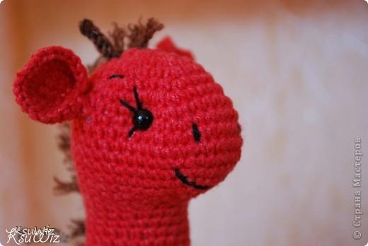 Знакомьтесь - Моня, Монечка, жирафа связанная на конфетной повязалке у Елены. фото 2