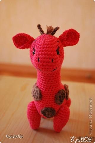 Знакомьтесь - Моня, Монечка, жирафа связанная на конфетной повязалке у Елены. фото 6