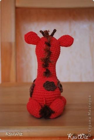 Знакомьтесь - Моня, Монечка, жирафа связанная на конфетной повязалке у Елены. фото 8