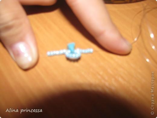 Смотрите, какой сегодня я сделала браслет!!! Я расскажу, как его сделала!    Нам понадобится: бисер и бусины среднего размера и ,конечно, леску! фото 5
