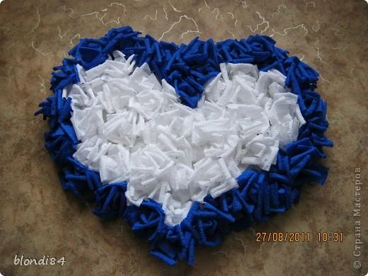 Гофрированное сердце из роз! фото 1