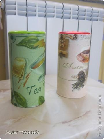Жаль было выбрасывать баночки из-под детского растворимого чая и они превратились в баночки для... чая, но уже черного и зеленого))) фото 1
