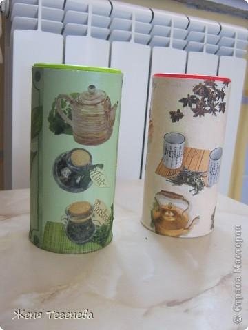 Жаль было выбрасывать баночки из-под детского растворимого чая и они превратились в баночки для... чая, но уже черного и зеленого))) фото 2