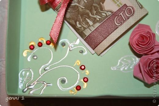 Коробочки делала на дни рождения и на свадьбу. МК нашла в интернете (пороюсь и добавлю ссылку позже). фото 6