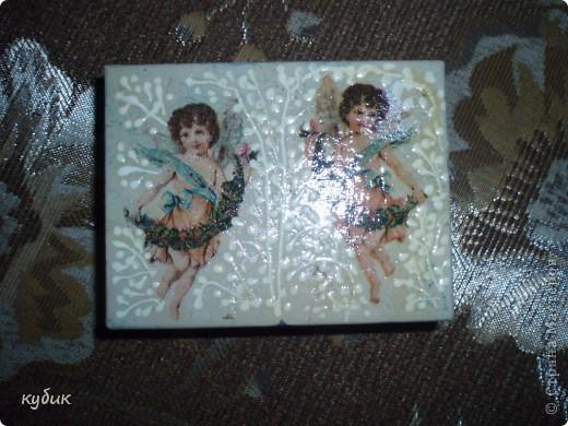 вот такие коробочки шкатулки я надекупажила фото 4