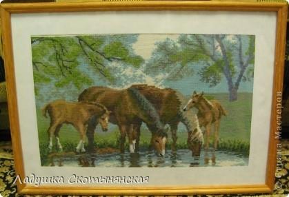 """Это одна из шести маминых работ в """"лошадиной"""" теме. Дома осталась только одна эта работа."""