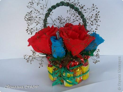 Сделала в подарок на день рождения вот такую корзинку. фото 2