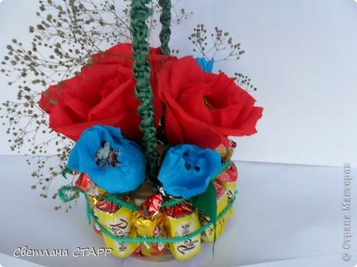 Сделала в подарок на день рождения вот такую корзинку. фото 3