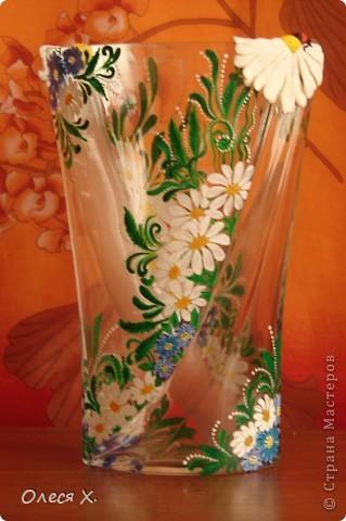 Вот, расписала на заказ первую вазу))) Честно говоря, было страшно, потому что никогда раньше этого не делала. Заказчица вроде осталась результатом довольна, она заказывала эту вазу для свекрови, а свекровь любит полевые цветы, вобщем надеюсь с дизайном я угадала, и ее свекрови все понравится)) Так что выставляю на ваш суд своего расписного первенца))) фото 8