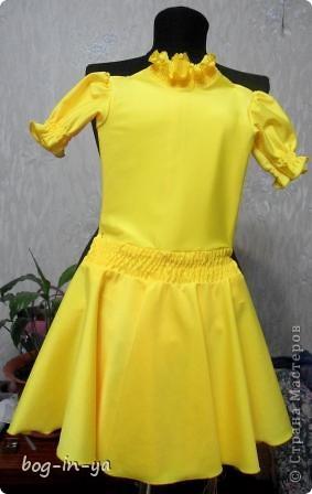 Вот результат еще одной бессонной ночи. Это рейтинговое платье для бальных танцев. Срочно нужно было одеть девчушку для выступления фото 1