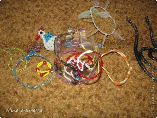 Вот мои работы! Браслетики и фенечки.... Так-же колечки, цепочки и фигурки. фото 1
