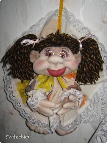 Готова еще одна кукляшка. Это подарок для любимой мамочки на день рождения. фото 1