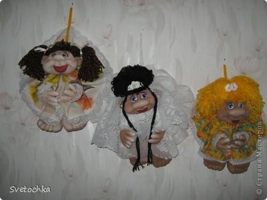 Готова еще одна кукляшка. Это подарок для любимой мамочки на день рождения. фото 3
