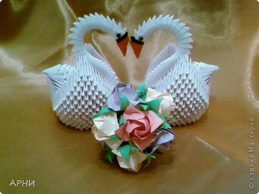 Свадебные лебеди своими руками из бумаги