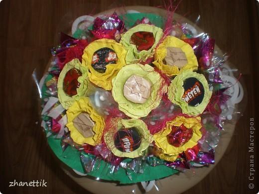 конфетный букет к школе фото 1