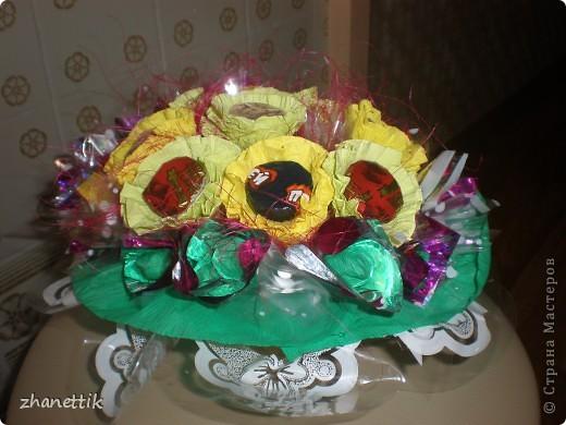 конфетный букет к школе фото 2