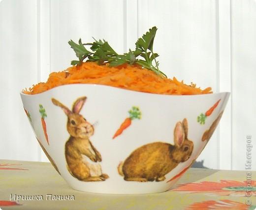 Долго у меня стояли белыми 2 салатника. Один внезапно превратился в зайко-морковный! фото 2