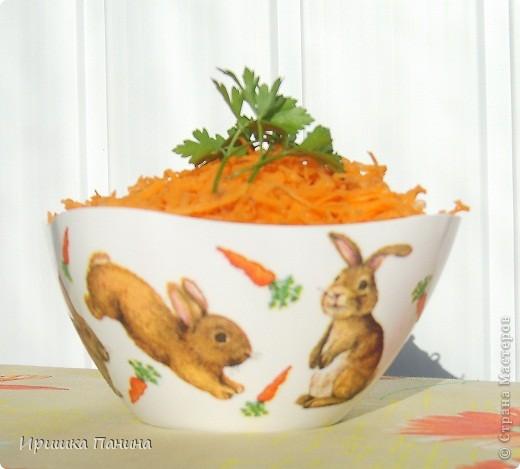 Долго у меня стояли белыми 2 салатника. Один внезапно превратился в зайко-морковный! фото 4