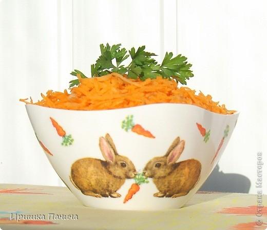 Долго у меня стояли белыми 2 салатника. Один внезапно превратился в зайко-морковный! фото 5
