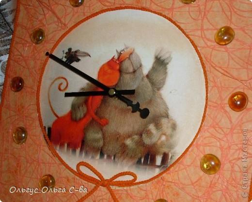 Заказали мне часики с кошками в оранжевых тонах, вот что получилось. фото 2