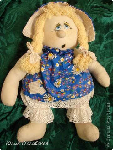 Маришка. Кукла курносик. Делала по мк, который есть в интернете http://www.liveinternet.ru/users/3614933/post149705695/ фото 1