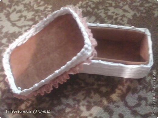 Шкатулка для косметики. Основа - коробка из под детской обуви фото 3