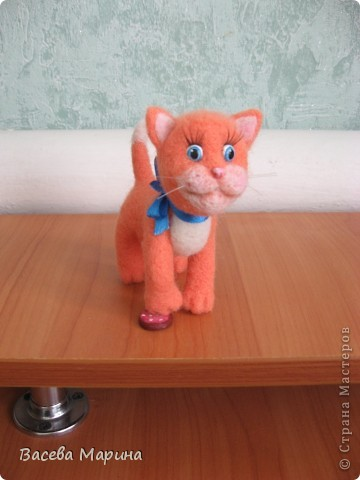 Вот такой котик у меня получился в подарок одному хорошему человеку. фото 1