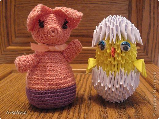 Два друга: поросёнок и цыпленок.   фото 1