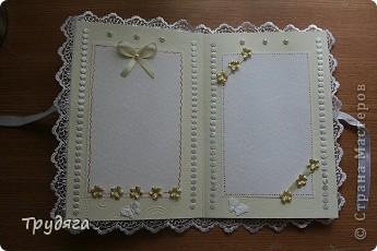 Еще один заказ на оформление коробочки для свадебного подарка и открытка =) Сложно фотографировать, так как бумага вся переливается, бликует... фото 3