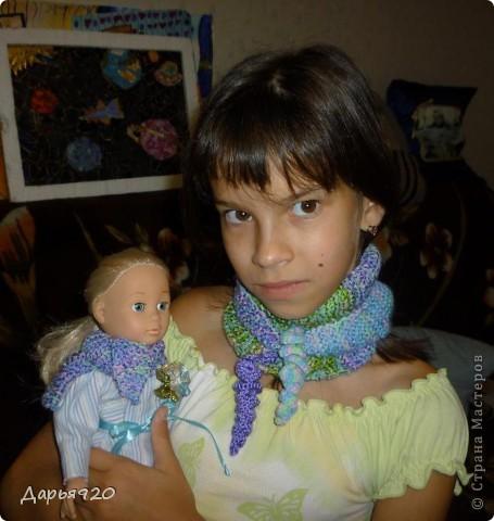 Вот такие шарфики у меня получились. фото 1