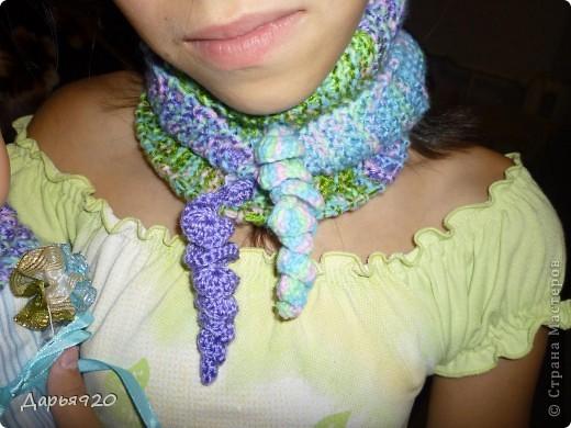 Вот такие шарфики у меня получились. фото 13