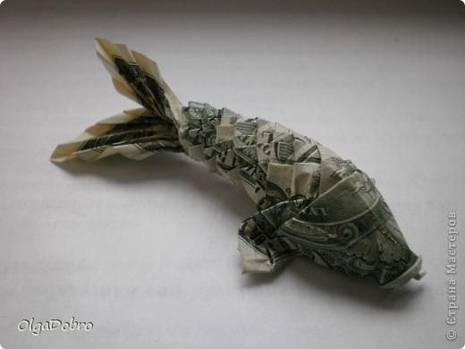 Поделка изделие Оригами Рыбка