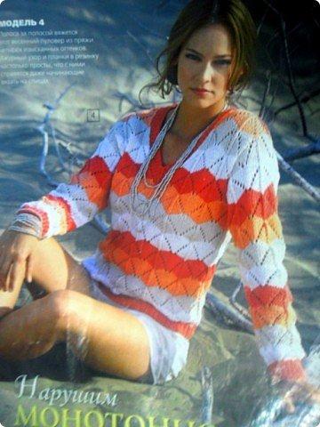 Вот такой свитер связался на осень. фото 4