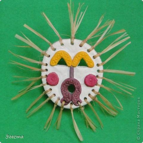 Маска-панно, украшение интерьера. Символизирует бога солнца. фото 1
