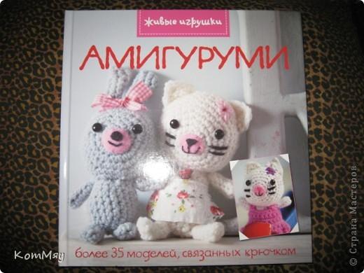 """Недавно прикупила одну интересную книжицу под названием """"Амигуруми. Живые игрушки"""". Ну, и решила попробовать связать себе киску... Получилась киска, но, правда, по мотивам...   фото 6"""
