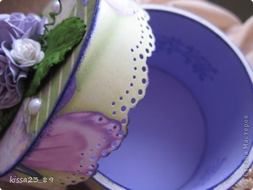 Основа шкатулки бобина от скотча. фото 4