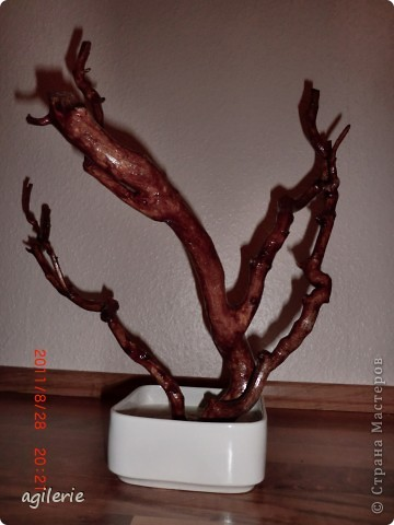 Вот и я хочю похвастаться своей работой)).Уж очень хотелось сделать это чюдестное дерево для себя! Люблю смотреть на его цветение!!!   Сакура сделана на основе натурального дерева(т.е его ствол).Вот такоя была моя идея!    Возможно кто-то уже делал подобное,но я на этом сайте такого не встречала. фото 4