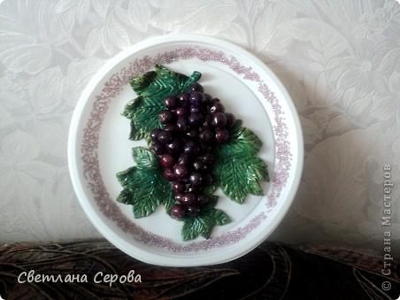 Моя первая гроздь! Тарелочка пластиковая,бисер китайский. фото 3