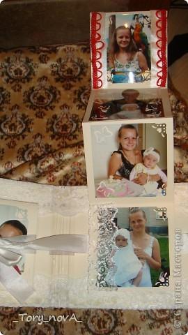 Здравствуйте, дорогие мастерицы! Вот такой албомчик я сделала подружке на День Рождения! Постараюсь выставить процесс работы, потому что он чуть-чуть отличается от моего первого альбома (http://stranamasterov.ru/node/225912#comment-2263416)! От той странички я забыла пароль и мне его было никак не восстановить. поэтому я тут! фото 11