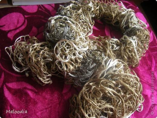 Вы не знаете, кто придумал спицы? Когда я вязала этот шарф, я очень нелестно отзывалась о создателе спиц. А потом о своих руках. Как известно, плохому танцору тоже все мешает... ;)  фото 1