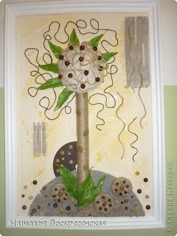 всем доброго здравия!хочу поделиться с вами тем что я сделала из бросового материала.вот такое у меня выросло дерево. фото 4