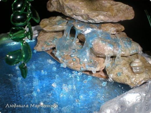 Ива из пл. бутылки + водопад. Мини МК фото 5