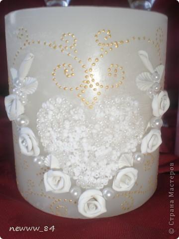 Оформляла несколько свечей на заказ в свадебный салон. Спешу поделиться результатом. фото 3
