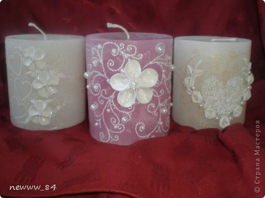 Оформляла несколько свечей на заказ в свадебный салон. Спешу поделиться результатом. фото 5
